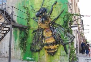 street art created by bordalo ii in Lisbon Portugal