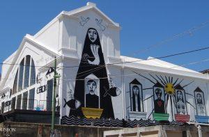 Portuguese street art in lx factory in Lisbon