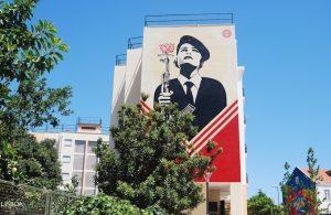 street art in Lisbon made by Shepard