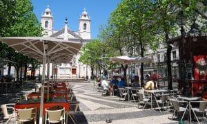 Praça de sao paulo no cais do sobre Lisboa