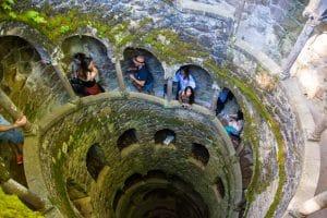 Poço Iniciativa at quinta da Regaleira in Sintra Portugal