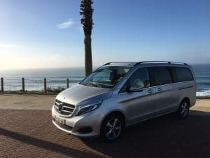 mercedes v220 on a private tour in Portugal