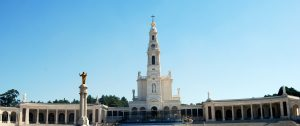view of the main church at the sanctuary of Fatima Portugal