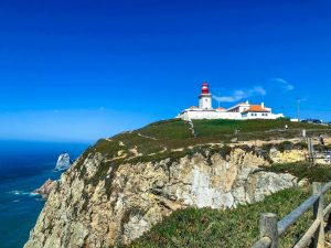 lighthouse in Cabo da Roca most western point of Europe
