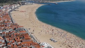 overview of the village and Nazare beach