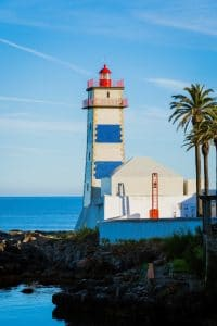 lighthouse in the Portuguese coast