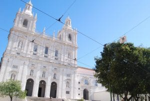 Front of the monastery of Sao Vicente Lisbon