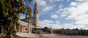 overview of the sanctuary of Fatima Portugal