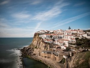 Overview of azenhas do mar village in sintra Portugal